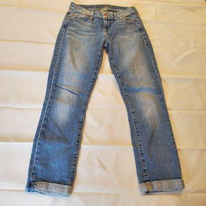 7 For all Mankind Cuffed Ankle Jeans sz w-25